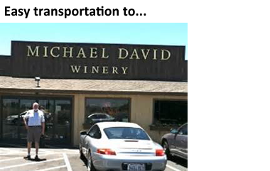 Easy Transportation to Wineries - Michael David