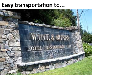 Easy Transportation to Wineries - Wine and Roses